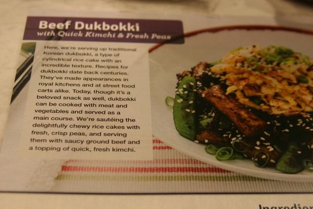 First up, Korean Beef Dukbokki.