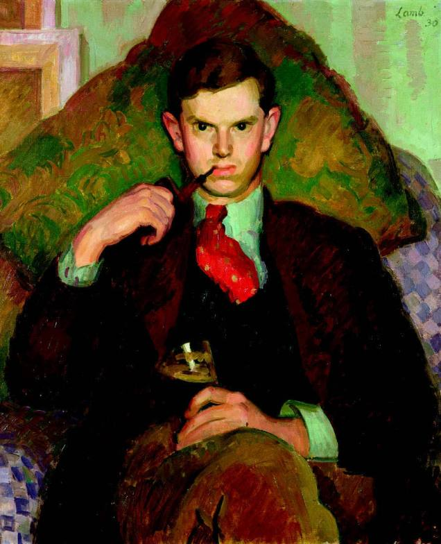 Portrait of Evelyn Waugh by Henry Lamb