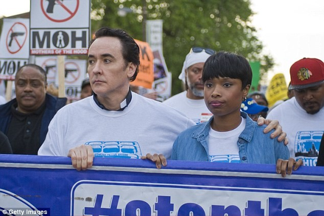 Lee has a great cast including John Cusack as a priest and Jennifer Hudson as the mother of a slain child. Hudson's portrayal was especially moving, knowing that her mother, brother, and nephew were killed by gun violence in Chicago.