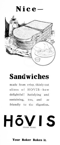 1920s Hovis Bread sandwiches advert