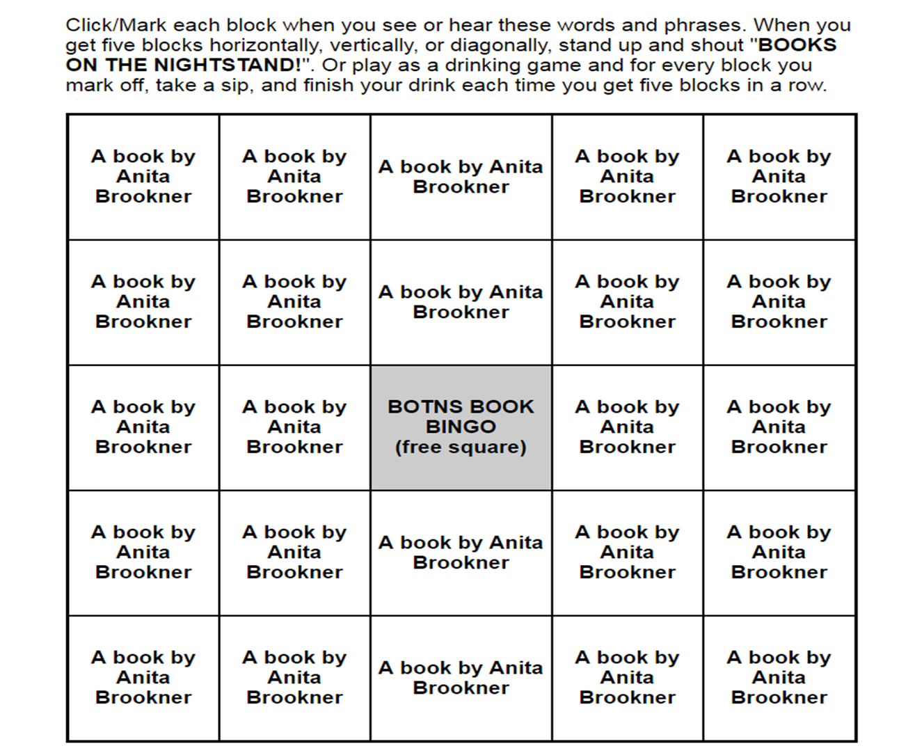 fiction book report bingo I also would like you to complete a fiction or nonfiction book report form for every book that you read all book report forms and the bingo grid.